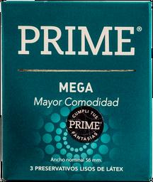 Preservativos Prime Mega  X 3U