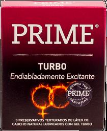 Preservativos Prime Turbo X3U