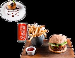 Entrada o Postre + Falafel Burger + Bebida