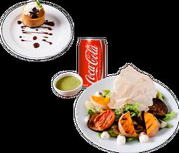 Entrada o Postre + Ensalada de Vegetales +  Bebida