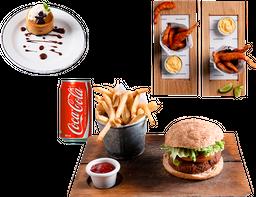 Entrada + Falafel Burger + Postre + Bebida