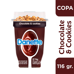 Danette Postre Chocolate & Cookies