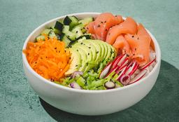 Poke Sushi Salad & Bebida