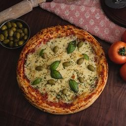 Pizza Muzzarella con Bebida
