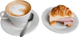 Medialuna Rellena + Café