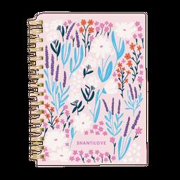 Ledesma Cuaderno A5 Estampas Spring Rayado