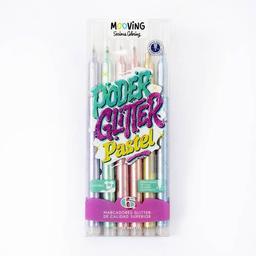 Mooving Marcador Coloring Poder Glitter Pastel