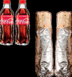 2 Wrap de Carne + Bebidas