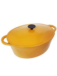 Cacerola Hierro Oval Orange 32.5 cm
