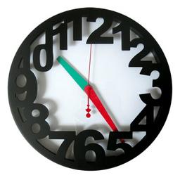 Reloj Pared 33 cm Negro