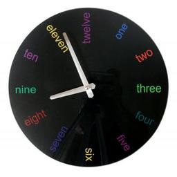 Reloj Pared 30 cm English Negro