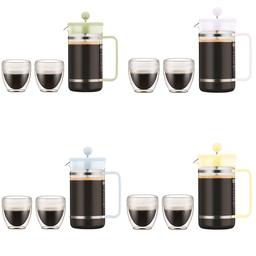 Bodum Cafetera 8 Poc Bistro Acr Con 2 Vasos Color Mix