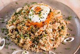Yakimeshi de Pollo o vegetariano + Bebida