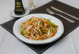 Chow Mien con Camarones
