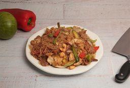 Chow Mi Fen con Camarones
