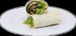 Burrito de Berenjena con Guacamole y  Choclo