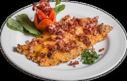 Filet de Merluza con Cheddar y Panceta