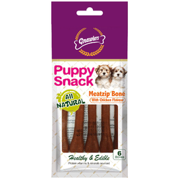 Gnawlers Snack Huesito Puppy Meat Zip Bone With Chicken Flavour