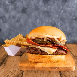 Combo Smoked Burger Simple & Papas
