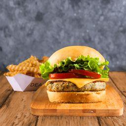 Combo Chicken Burger Simple & Papas