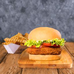 Combo Mush Burger Simple & Papas