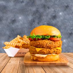 Combo Veggie Burger Doble & Papas