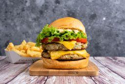 Combo Chicken Burger Doble & Papas