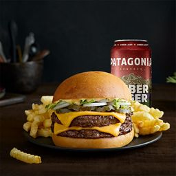 Combo XL Súper Dean Burger & Papas & Cerveza