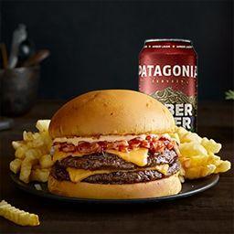 Combo XL Magic Dean Burger & Papas & Cerveza