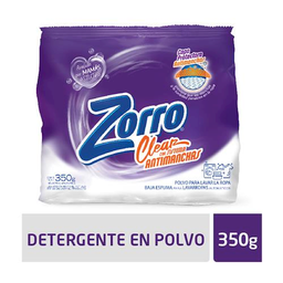 Zorro Jabón en Polvo Clear Con Sistema Antimanchas
