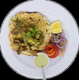 Hariyali Kebab de Langostinos + 1 Naan