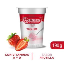 La Serenisima Yogurt Entero Firme sabor Frutilla