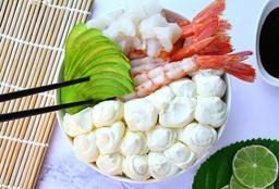 Salad Langostino, Lenguado, Palta y Phila