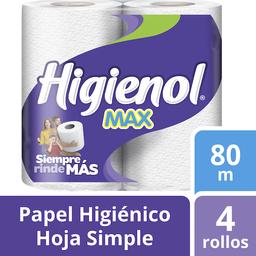 Higienol Papel Higiénico Max Manzanilla 80 m