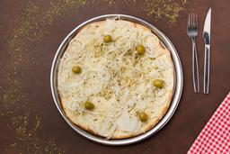 Pizza de Fugazzeta con Jamón