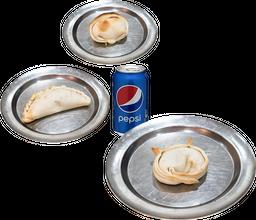 Tres Empanadas + Bebida