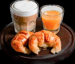 2 Medialunas + Café + Jugo