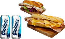 2 Sándwiches + 2 Quilmes Lata