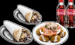 2 Shawarmas + 1 Falafel + 2 Gaseosas