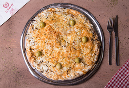 Pizza de Fugazzeta Rellena con Jamón y Provolone