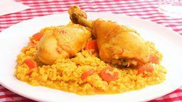 Promo Pollo C/arroz Amarillo , Lata y Postre