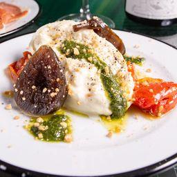 Burrata, Confitura de Higos, Tomates Asados
