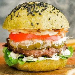 Green Gourmet Burger con Papas Fritas