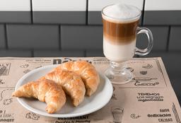 3 Medialunas + Café con Leche