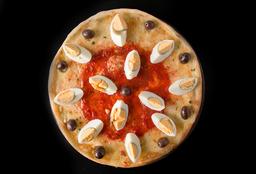 Pizza con Huevo Duro