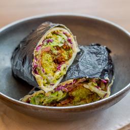 Wrap de falafel vegano