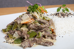Pollo o Lomo Thai al Curry