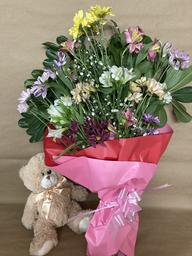 Ramo de Flores de Estación + Osito