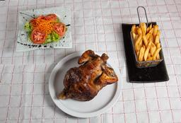 Pollo + Fritas + Ensalada