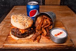 Royale Burger + Rústicas + Gaseosa